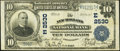 National Bank Notes:Pennsylvania, New Holland, PA - $10 1902 Plain Back Fr. 633 The New Holland National Bank Ch. # (E)2530 Fine-Very Fine.. ...