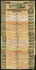 Confederate Notes:1864 Issues, T68 $10 1864 Nineteen Examples Fine or Better.. ... (Total: 19 notes)