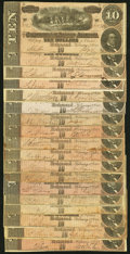 Confederate Notes:1864 Issues, T68 $10 1864 Eighteen Examples Fine or Better.. ... (Total: 18 notes)