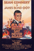 "Movie Posters:James Bond, Never Say Never Again (PSO, 1983). Folded, Very Fine+. International One Sheet (27"" X 41""). James Bond.. ..."