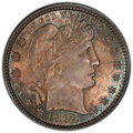 Barber Quarters: , 1892 25C MS66 PCGS. CAC. PCGS Population: (114/36). NGC Census: (80/22). CDN: $850 Whsle. Bid for NGC/PCGS MS66. Mintage 8,...