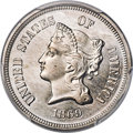 Patterns, 1869 5C Five Cents, Judd-684, Pollock-763, R.5, PR64+ PCGS. CAC....