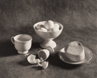 Arkady Lvov (Ukrainian, 20th Century) Breakfast, 1989 Platinum 8-3/4 x 10-1/4 inches (22.2 x 26.0 cm) Signed, dated
