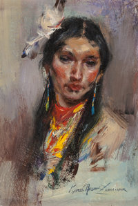 Cyrus Afsary (American, b. 1940) Nawa-Nwr Oil on Masonite 7 x 5 inches (17.8 x 12.7 cm) Signed and titled lower righ