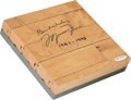 "Basketball Collectibles:Others, 1990's Michael Jordan UDA Signed Chicago Stadium Floor Board with ""Best Wishes"" Inscription. ..."