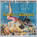 """Movie Posters:Horror, Circus of Horrors (American International, 1960). Folded, Very Fine+. Six Sheet (78.75"""" X 80""""). Horror.. ..."""