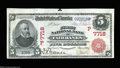 National Bank Notes:Alaska, Fairbanks, AK- $5 1902 Red Seal Fr. 587 First NB Ch. # ...