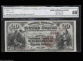 National Bank Notes:Kentucky, Louisville, KY - $20 1882 Brown Back Fr. 501 The ...