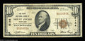 National Bank Notes:Maryland, Mount Savage, MD - $10 1929 Ty. 1 The First NB Ch. # ...