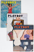 Magazines:Miscellaneous, Playboy V3#1-6 Group of 6 (HMH, 1956) Condition: Average FN-.... (Total: 6 Comic Books)