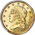 Early Quarter Eagles, 1831 $2 1/2 MS66+ Prooflike PCGS....