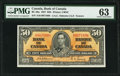 World Currency, Canada Bank of Canada $50 2.1.1937 BC-26a PMG Choice Uncirculated 63.. ...