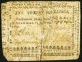 Colonial Notes:North Carolina, North Carolina April 23, 1761 20s Very Good.. ...