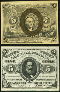 Fr. 1234 5¢ Second Issue About New. and a Fr. 1238 5¢ Second Issue About New