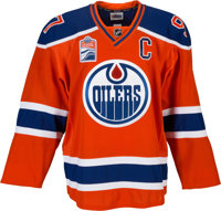 2016-17 Connor McDavid Game Worn & Signed Edmonton Oilers Alternate Jersey with Team Letter