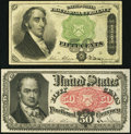 Fractional Currency:Fifth Issue, Fr. 1379 50¢ Fourth Issue Dexter Very Fine,. and a Fr. 1381 50¢ Fifth Issue About New, pinholes.. ... (Total: 2 notes)
