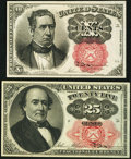 Fractional Currency:Fifth Issue, Fr. 1266 10¢ Fifth Issue Very Choice New,. and a Fr. 1308 25¢ Fifth Issue Very Choice New.. ... (Total: 2 notes)
