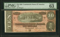 Confederate Notes:1864 Issues, T68 $10 1864 PMG Choice Uncirculated 63 EPQ.. ...