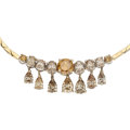 Estate Jewelry:Necklaces, Colored Diamond, Gold Necklace . ...