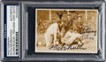 Baseball Collectibles:Photos, 1934 Babe Ruth, Lou Gehrig & Jimmie Foxx Signed Tour of Japan Photograph, PSA/DNA Authentic....