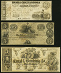 Augusta, GA- Bank of Augusta $5 18__ Remainder Extremely Fine; New Orleans, LA- New Orleans Canal &