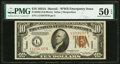 Fr. 2303 $10 1934A Hawaii Federal Reserve Note. PMG About Uncirculated 50 EPQ