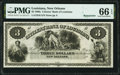 Obsoletes By State:Louisiana, New Orleans, LA- Citizens' Bank of Louisiana $3 18__ Remainder G6 PMG Gem Uncirculated 66 EPQ.. ...