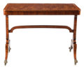 Furniture, An English Regency Sofa Table with Book Matched Veneer Top. 30 x 39-1/2 x 24 inches (76.2 x 100.3 x 61.0 cm). ...