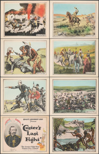 "Custer's Last Fight (Quality Amusement Corp., R-1925). Overall: Very Fine+. Lobby Card Set of 8 (11"" X 14""). W..."