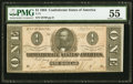 Confederate Notes:1864 Issues, T71 $1 1864 PF-12 Cr. 574 PMG About Uncirculated 55.. ...