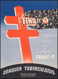 """Movie Posters:Advertising, Christmas Seals (American Lung Association, Late 1940s). Very Fine+ on Linen. Full-Bleed Fundraising Poster (11"""" X 15"""") """"Fin..."""