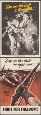 "World War II Propaganda (U.S. Government Printing Office, 1942). Very Fine. Posters (2) (7.25"" X 10"") ""Gi..."