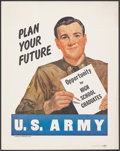 "Movie Posters:War, Korean War Recruitment Poster (U.S. Government Printing Office, 1951). Fine/Very Fine. Poster (11"" X 14"") ""Plan Your Future...."