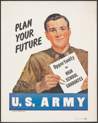 "Korean War Recruitment Poster (U.S. Government Printing Office, 1951). Fine/Very Fine. Poster (11"" X 14"") &quo..."