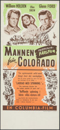 """Movie Posters:Western, The Man from Colorado & Other Lot (Columbia, 1949). Rolled & Folded, Very Fine. Swedish Inserts (2) (12.75"""" X 27.5"""" & 12.5"""" ... (Total: 2 Items)"""