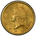 Gold Dollars, 1849-O G$1 Open Wreath MS63 PCGS. PCGS Population: (43/30 and 0/5+). NGC Census: (48/38 and 0/5+). CDN: $2,800 Whsle. Bid f...