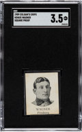"""Baseball Cards:Singles (Pre-1930), 1909-11 Colgan's Chips Honus Wagner """"Square Proof"""" SGC VG+ 3.5 - The Only Graded Example By Either SGC or PSA. ..."""