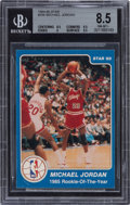 """Basketball Cards:Singles (1980-Now), 1984-85 Star Co. Michael Jordan """"1985 Rookie of The Year"""" #288 BGS NM-MT+ 8.5. ..."""