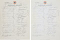 Autographs:Others, 1966 Pittsburgh Pirates Team Signed American Airlines Letterhead....