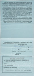 Football Collectibles:Others, 1965 Ray Nitschke Signed Green Bay Packers Player's Contract with Lombardi. ...