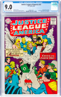 Justice League of America #21 (DC, 1963) CGC VF/NM 9.0 Off-white to white pages