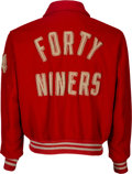 Football Collectibles:Uniforms, 1950's-60's San Francisco 49ers Game Worn Sideline Jacket Likely Used by Running Back J.D. Smith....