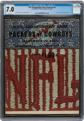 Football Collectibles:Programs, 1967 NFL Championship Game Packers vs. Cowboys Program (Ice Bowl) - CGC 7.0 Pop 1 with None Higher....