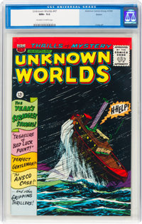 Unknown Worlds #47 Boston Pedigree (ACG, 1966) CGC NM+ 9.6 Off-white to white pages