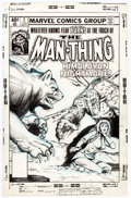 Original Comic Art:Covers, Bob Wiacek Man-Thing #2 Cover Original Art (Marvel, 1980)....