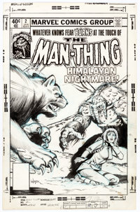 Bob Wiacek Man-Thing #2 Cover Original Art (Marvel, 1980)
