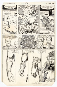 Herb Trimpe and Barry Windsor-Smith Machine Man #1 Story Page 12 Original Art (Marvel, 1984)