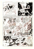 Original Comic Art:Panel Pages, George Perez and Frank McLaughlin Justice League of America #185 Story Page 22 Original Art (DC, 1980)...