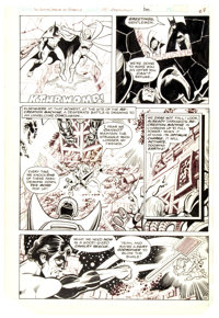 George Perez and Frank McLaughlin Justice League of America #185 Story Page 22 Original Art (DC, 1980)