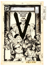 Eduardo Barreto V #1 Cover Original Art (DC, 1985)